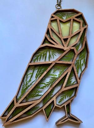 Image of Cedar Owl Window Hanging