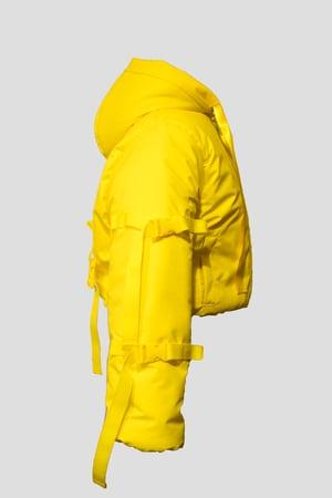 Image of yellow puffer jacket