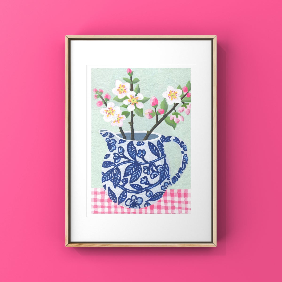 Apple Blossom in Blue & White Jug