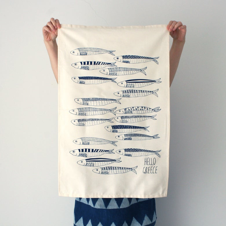 Image of Hello Sardines Tea Towel