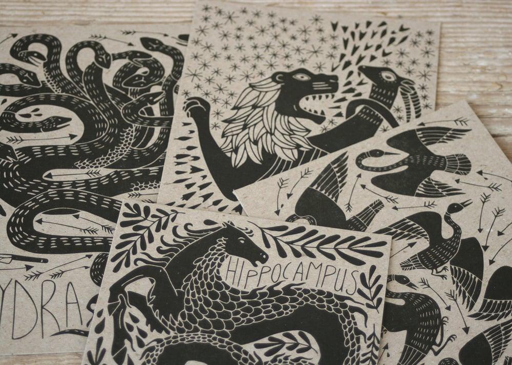 Image of Mythical Beasts Postcard Set