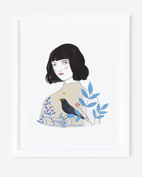 Image of Lámina MIRLO (Mi corazón es un pájaro cantor)