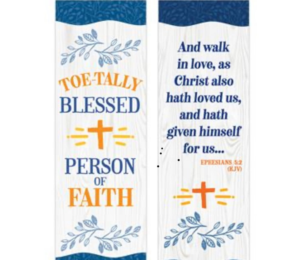 Toe-tally Blessed Person of Faith Cushioned Socks & Bookmark