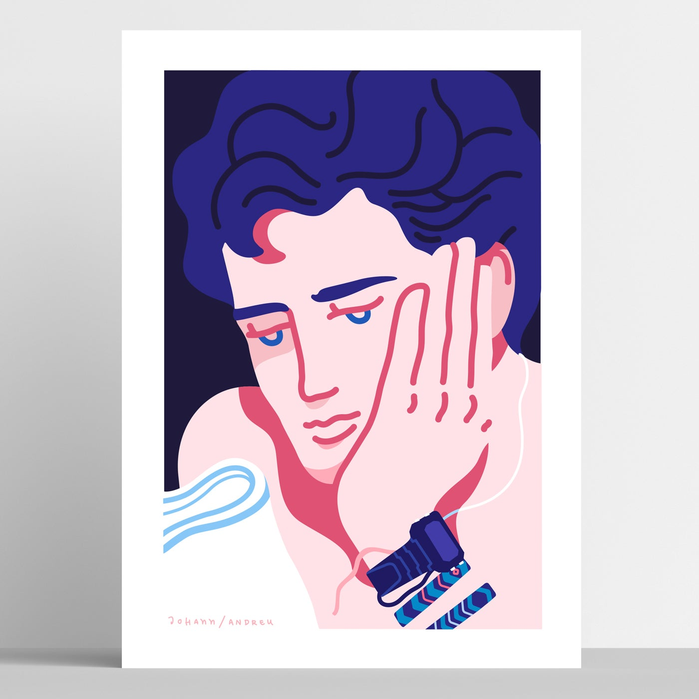 Call me by your Name - Elio Portrait - Artprint
