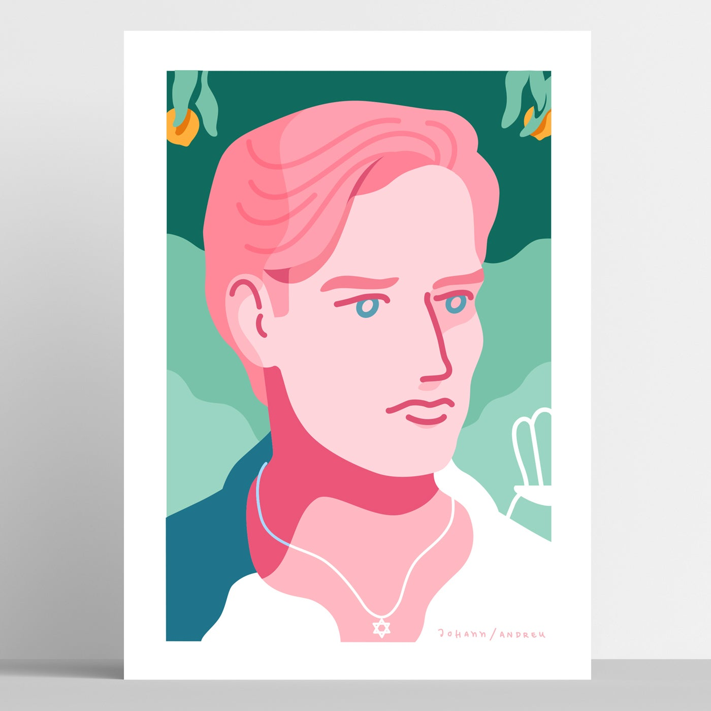 Call me by your Name - Oliver Portrait - Artprint