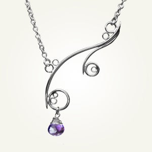 Image of Greek Isle Necklace with Amethyst, Sterling Silver