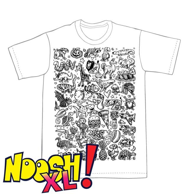 Doodle Block Noosh XL T-shirt **FREE SHIPPING**