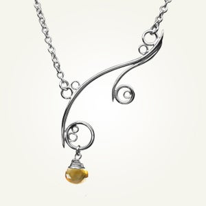 Image of Greek Isle Necklace with Citrine, Sterling Silver