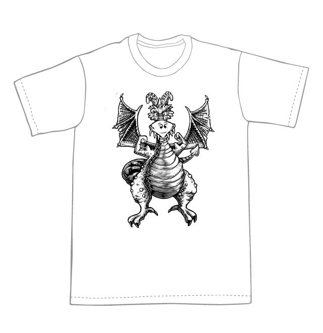 Muscle Bound Dragon T-shirt (A2)  **FREE SHIPPING**