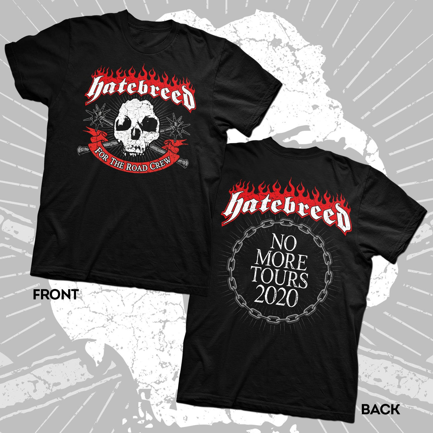 """Image of HATEBREED """"NO MORE TOURS 2020"""" *For The Road Crew Benefit* Shirt"""