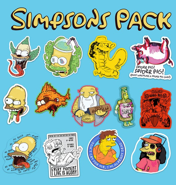 Image of Simpsons Pack Sticker Pack