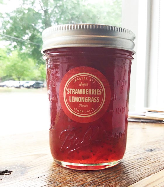 Image of Canebrake Cottage Strawberry Lemongrass Jam - NEW!