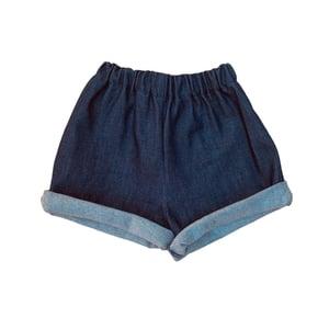 Image of Pippins denim shorts Indigo (was £33 now £25)