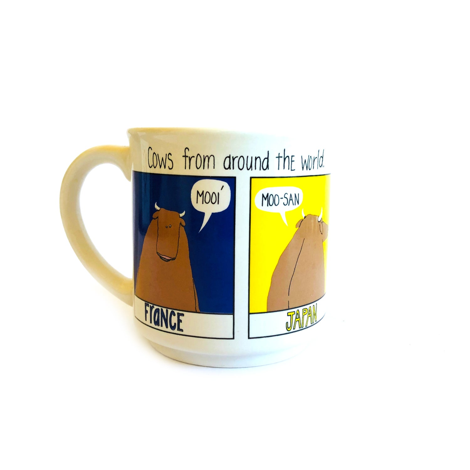 """Image of """"Cows from around the world"""" mug"""