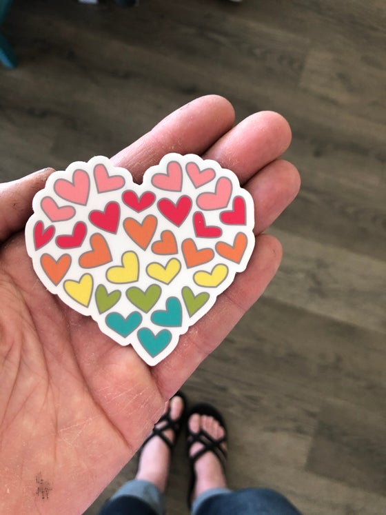 "Image of 3"" Vinyl Heart of Heart Sticker"