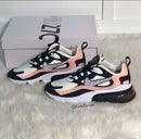 Image of Women's Nike air Max 270 React Casual Shoes customized with Swarovski Crystals.