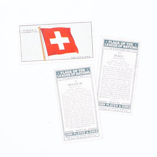 Image of Flags of the League of Nations Cigarette Cards - Set of 8