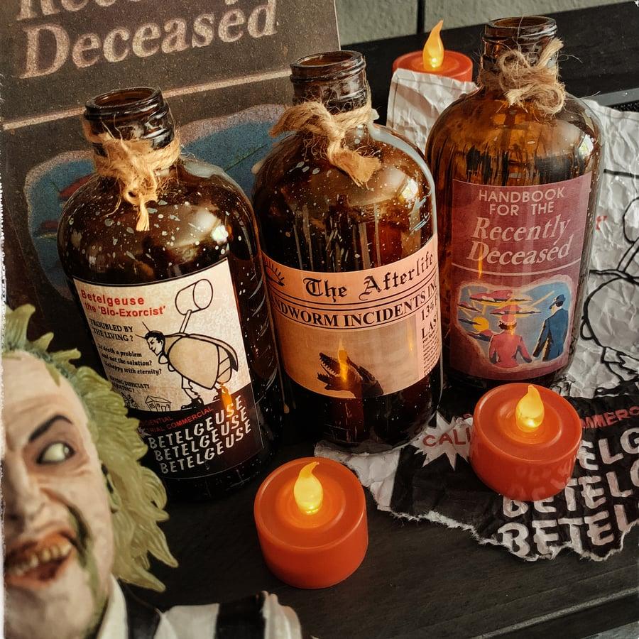 Image of Beetlejuice Decor Bottle Set