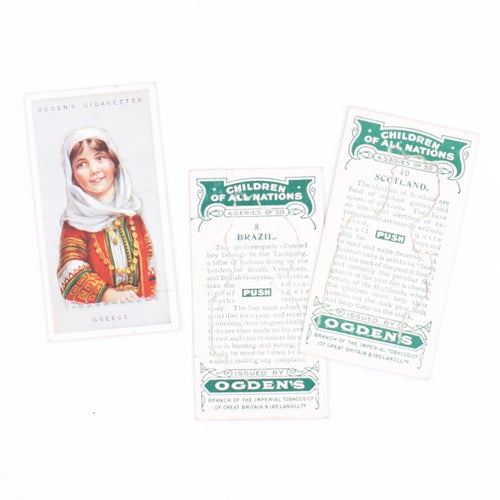 Image of Children of All Nations Cigarette Cards - Set of 6