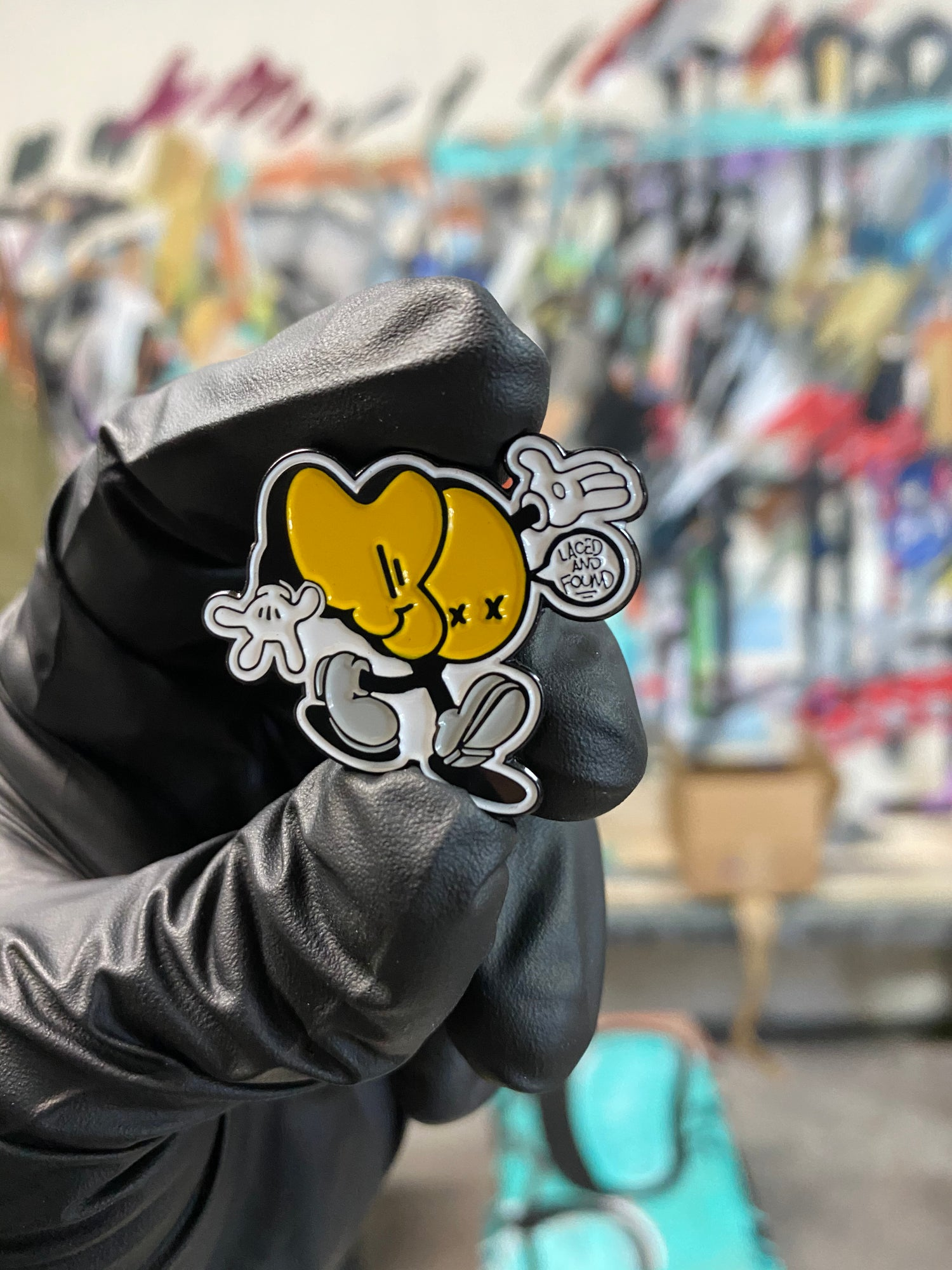 Image of AO! + LACED AND FOUND PIN