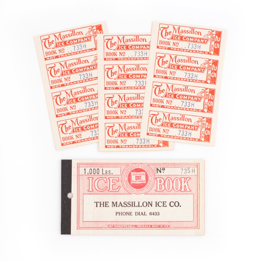 Image of 1930's Ice Coupon Booklet - Red