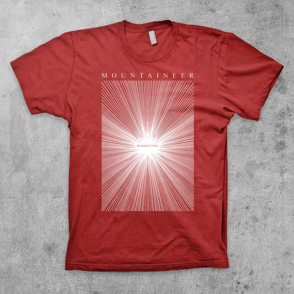 """Image of """"Bloodletting Rays"""" MOUNTAINEER Band Shirt"""