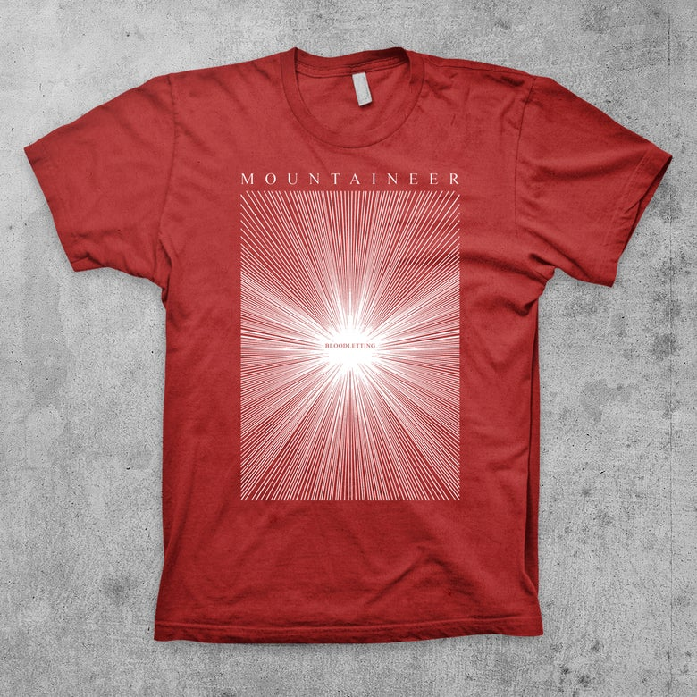 "Image of ""Bloodletting Rays"" MOUNTAINEER Band Shirt"