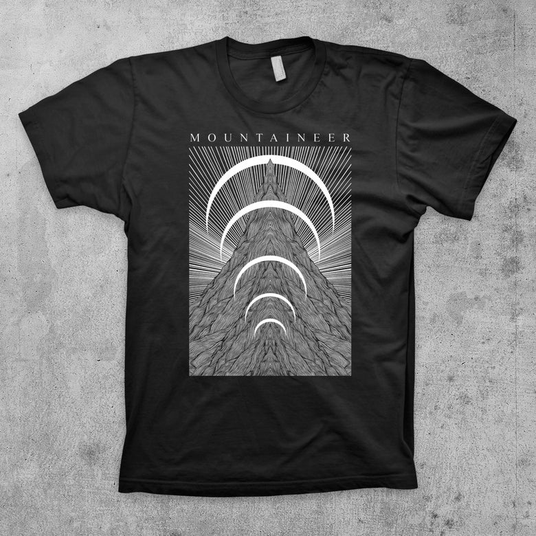 "Image of ""The Mountain""  Black Tee"