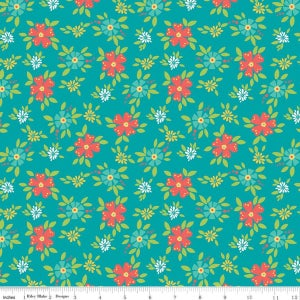 Image of Shades of Summer Teal Floral