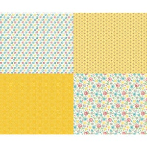 Image of Shades of Summer Yellow Fat Quarter Panel