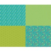 Image of Shades of Summer Green Fat Quarter Panel
