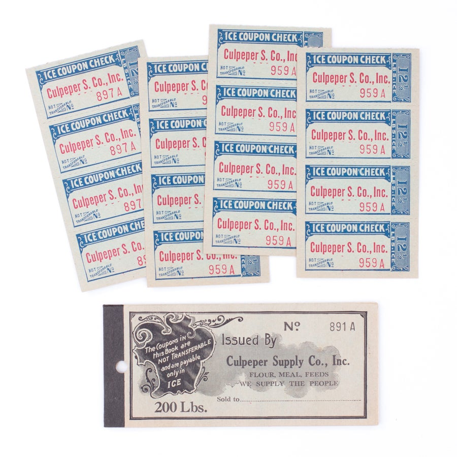 Image of 1920's Ice Coupon Booklet - Blue