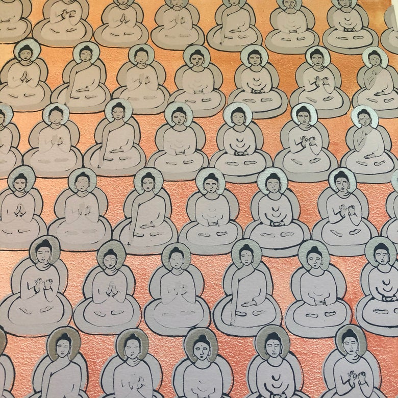 Image of Blush Pink and Silver Buddhas