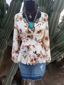Edith Flower Blouse