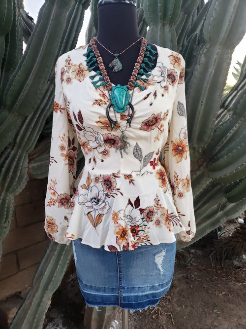 Image of Edith Flower Blouse