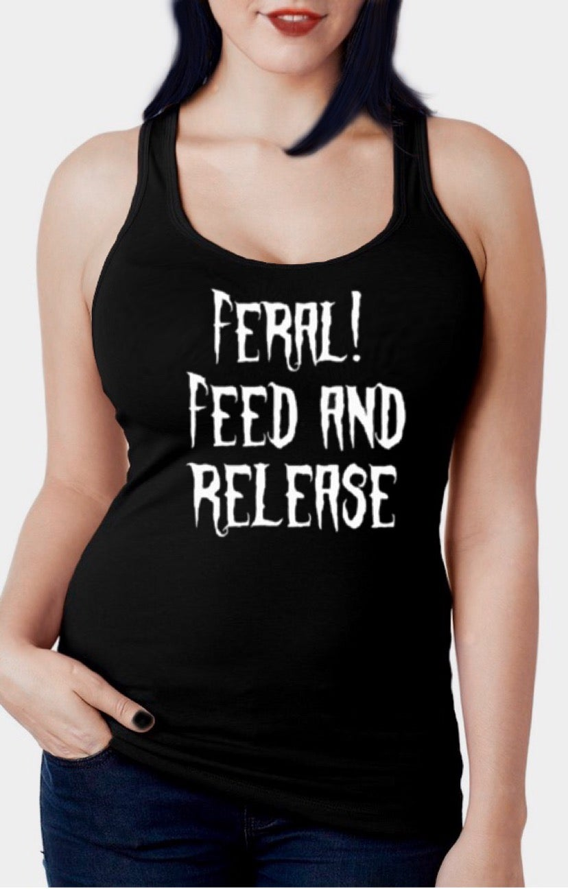 Image of Feral Kitty Racer Back Tank Top