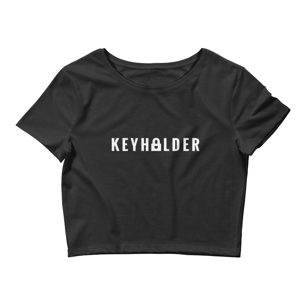 KEYHOLDER Women's Crop Tee Black