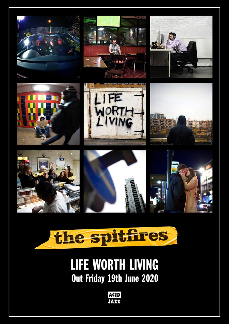 Image of The Spitfires - 'Life Worth Living' New Album A2 Poster (Signed)