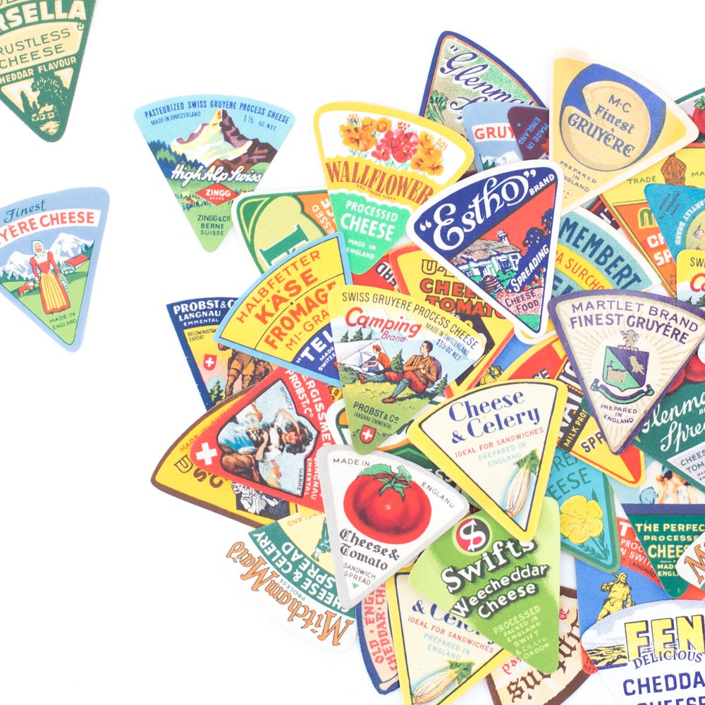 Image of Mini Cheese Labels - Set of 6