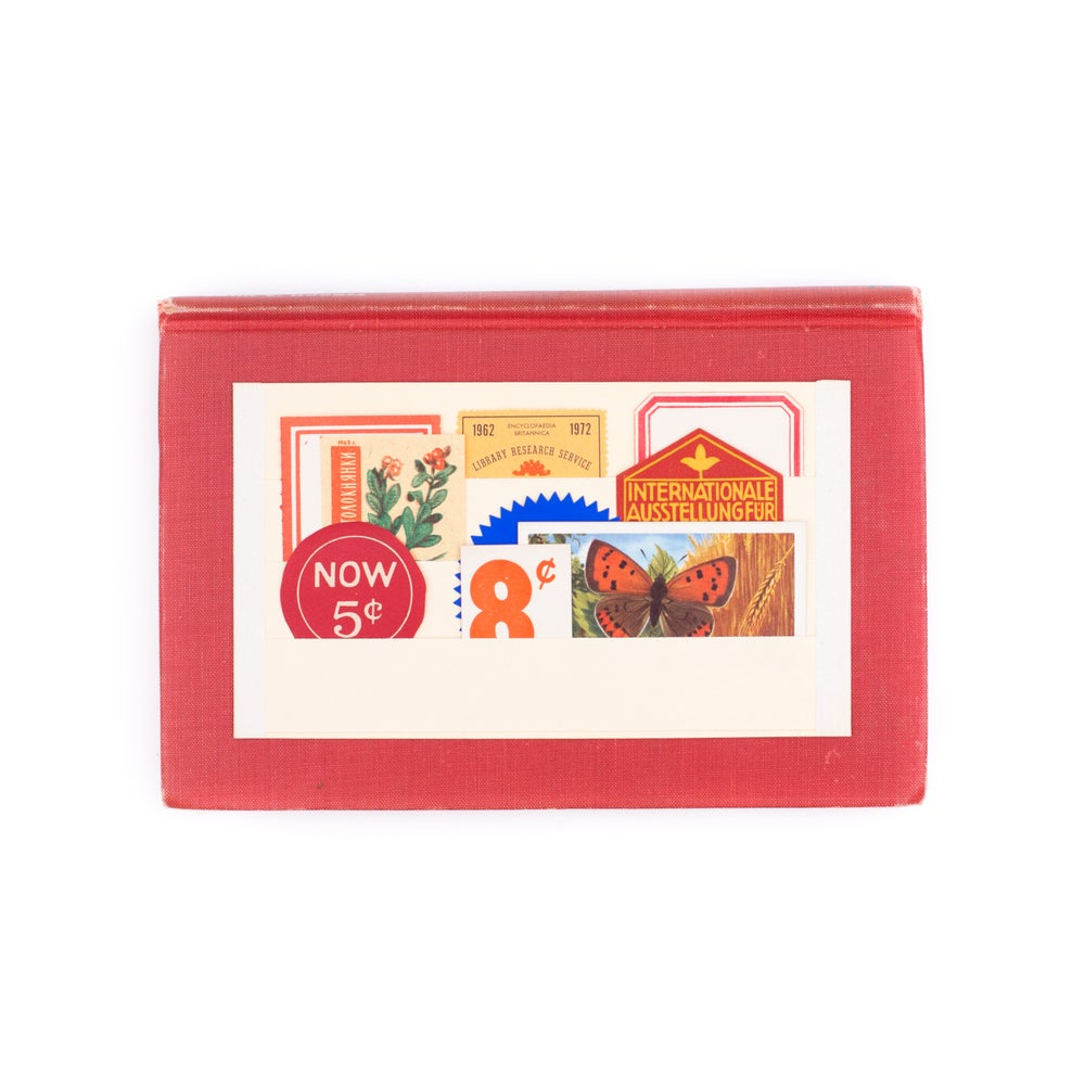 Image of Mini Ephemera on Vintage Stamp Stock Sheet