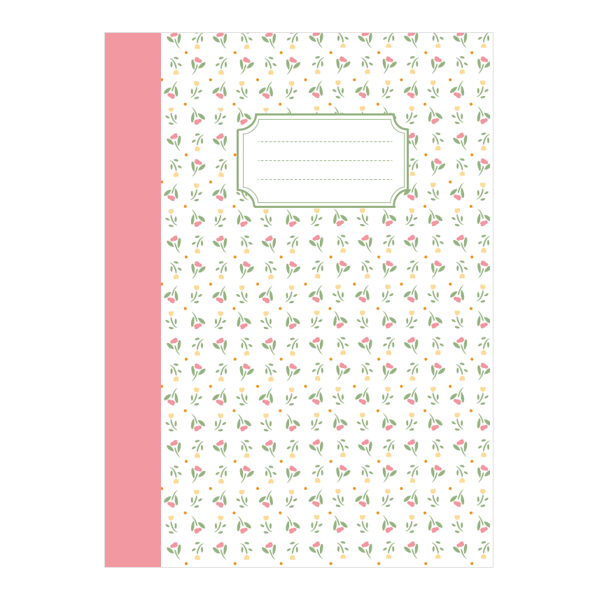 Image of Cahier décor fleuri