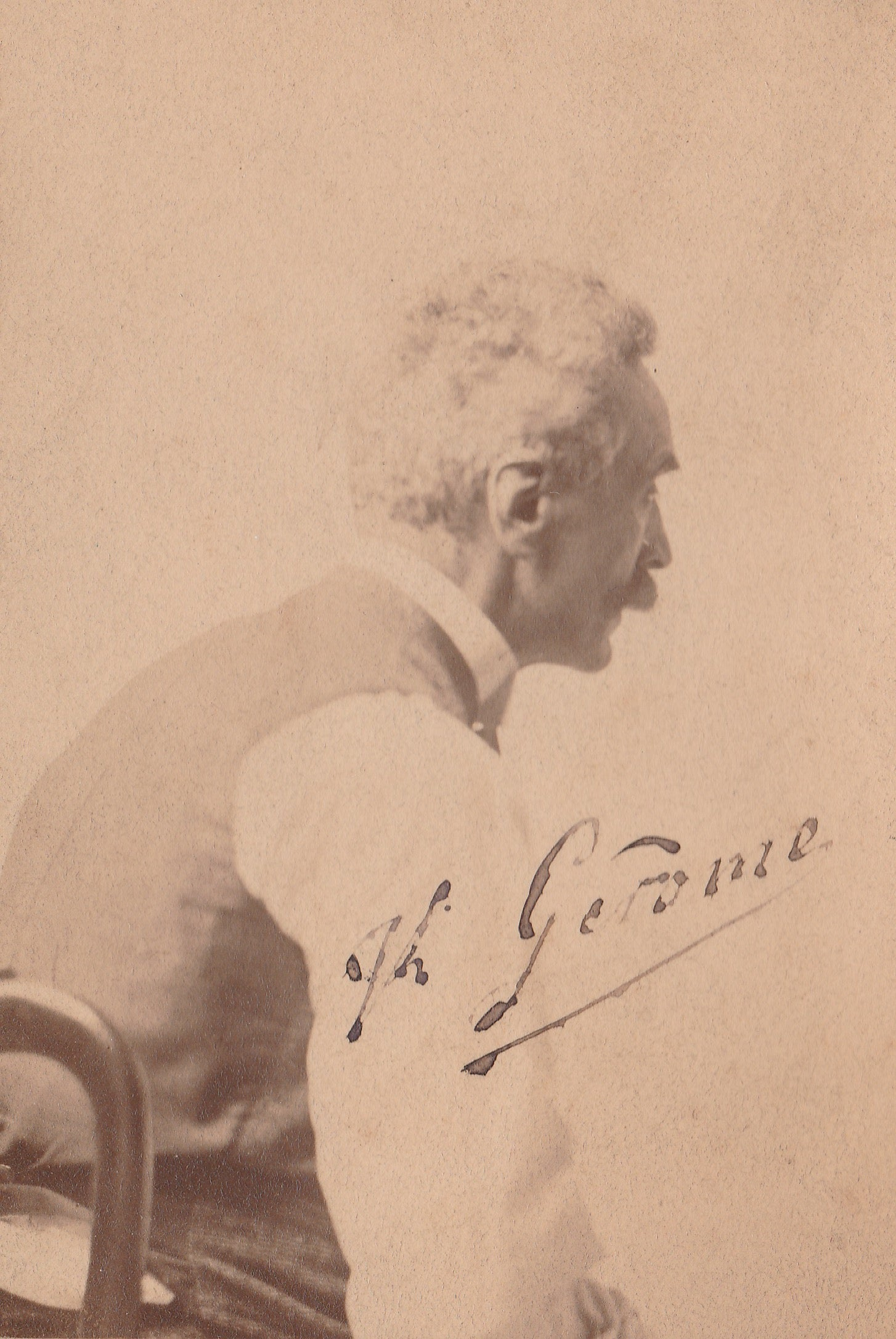 Image of Signed portrait of Jean-Léon Gérôme, painter of 'Phryné' ca. 1875