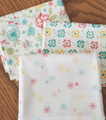 Image of Shades of Summer Cream Prints Fat Quarter Pack