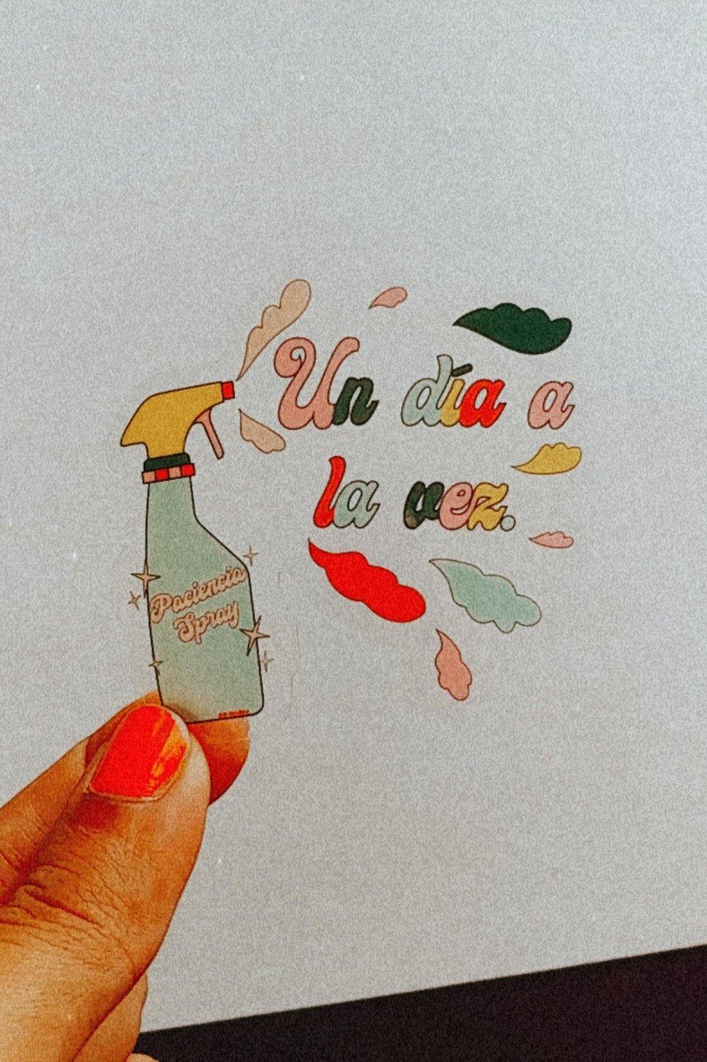 Image of Paciencia Spray Clear Sticker