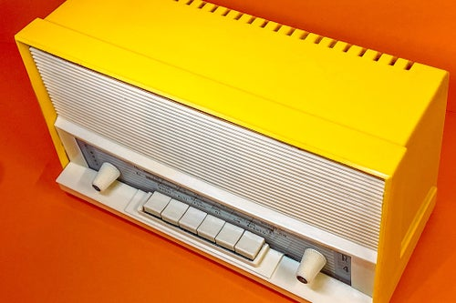 Image of LIBELLULA R4 YELLOW (1964) RADIO VINTAGE BLUETOOTH