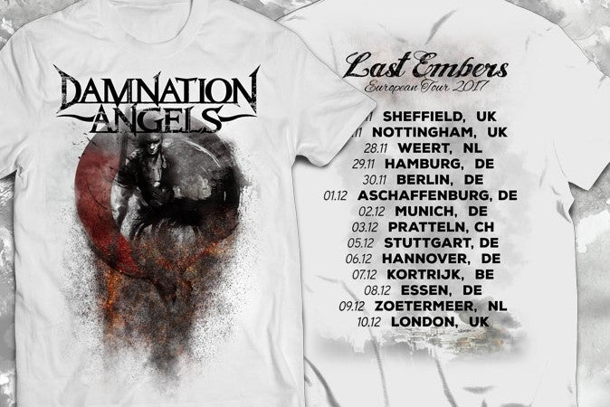 Last Embers 2017 European Tour Shirt