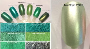 Image of Green Pearl Pigments  </p> 21 Colors Available