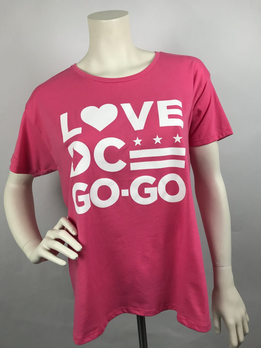 Image of Loose Fit Pink Love DC Go-Go T-shirt