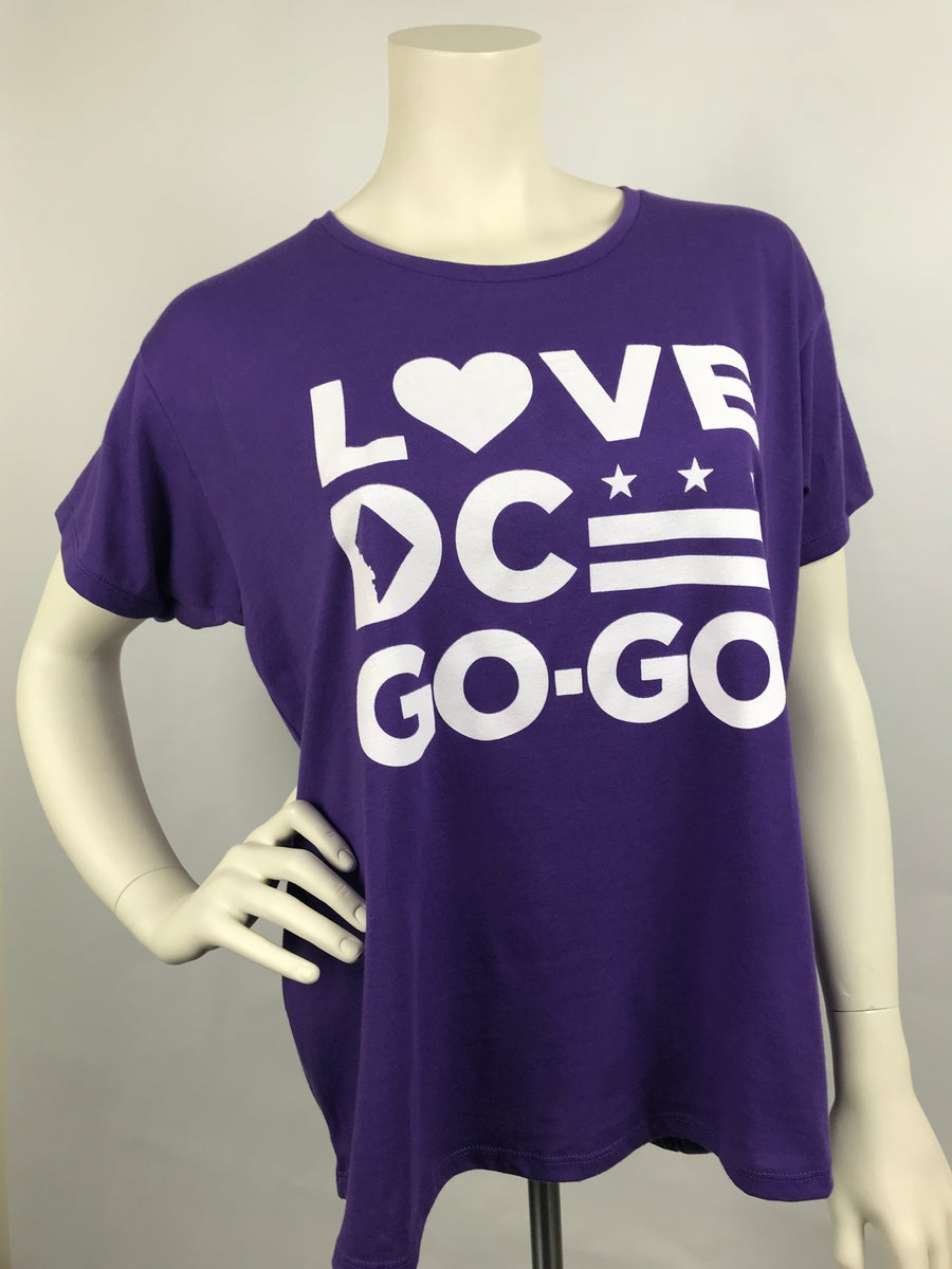 Image of Love DC Go-Go - Ladies Loose Fit Purple