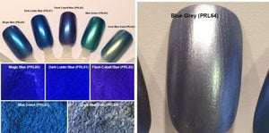Image of Blue Pearl Pigments  </p> 18 Colors Available
